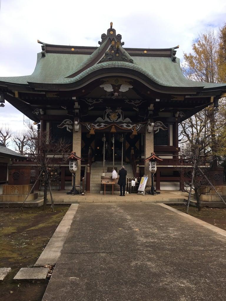諏訪神社の本殿・本堂(東京都西早稲田駅)