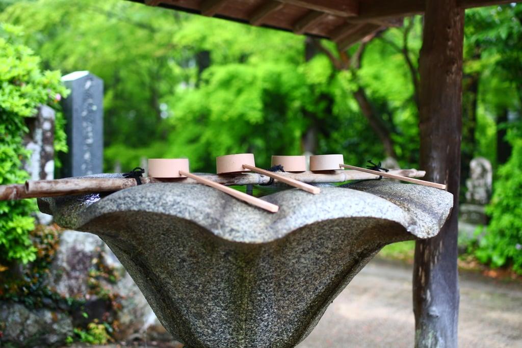 峯寺の手水