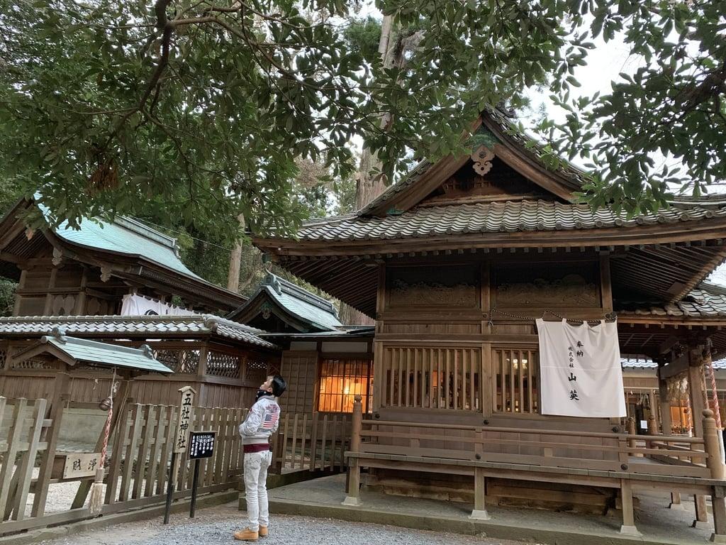 事任八幡宮の本殿(静岡県菊川駅)