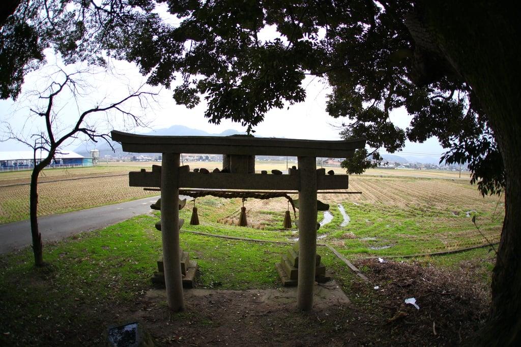 小原神社の鳥居(鳥取県米子駅)