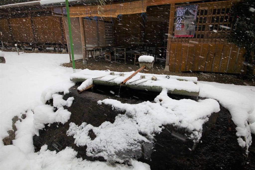 須佐神社の手水舎(島根県江南駅)