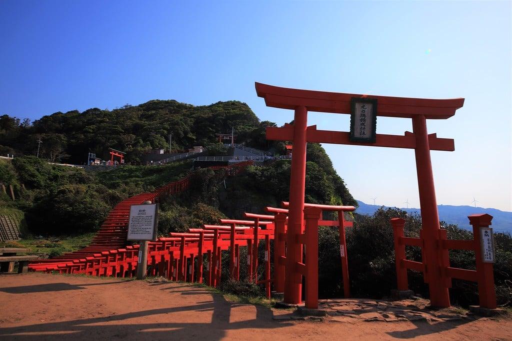元乃隅神社の鳥居(山口県長門古市駅)