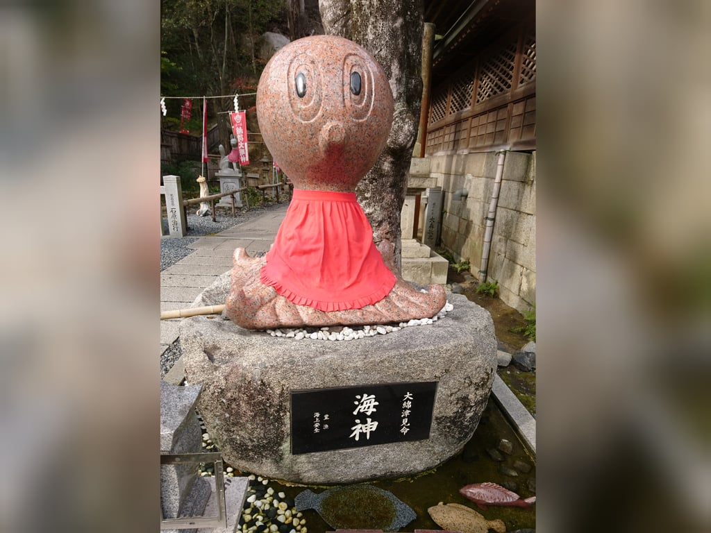 由加山 由加神社本宮の狛犬(岡山県木見駅)