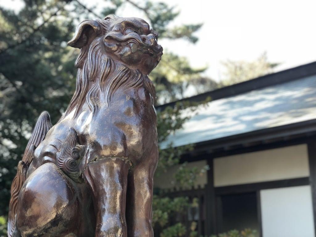 大洗磯前神社の狛犬(茨城県大洗駅)