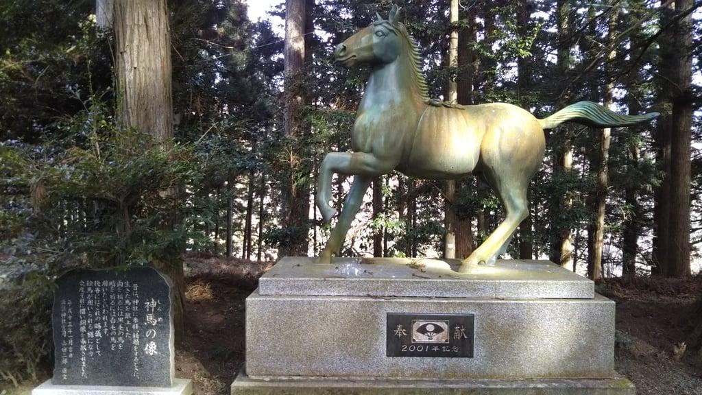 諏訪神社の狛犬(茨城県袋田駅)
