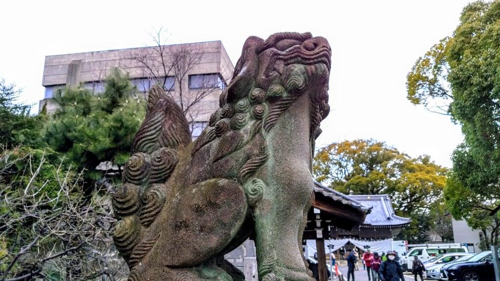 加納天満宮の狛犬