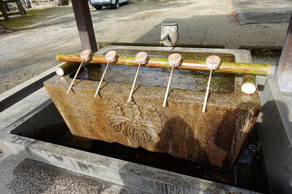 豊国神社の手水