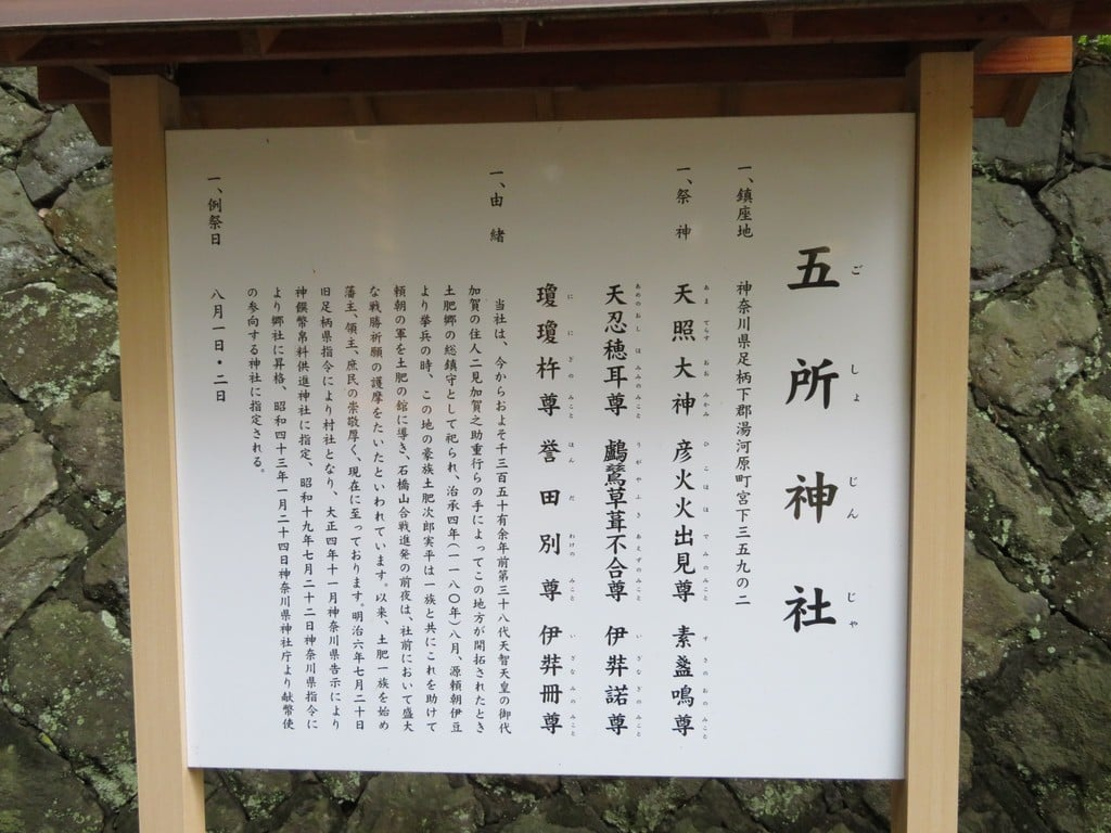 五所神社の歴史