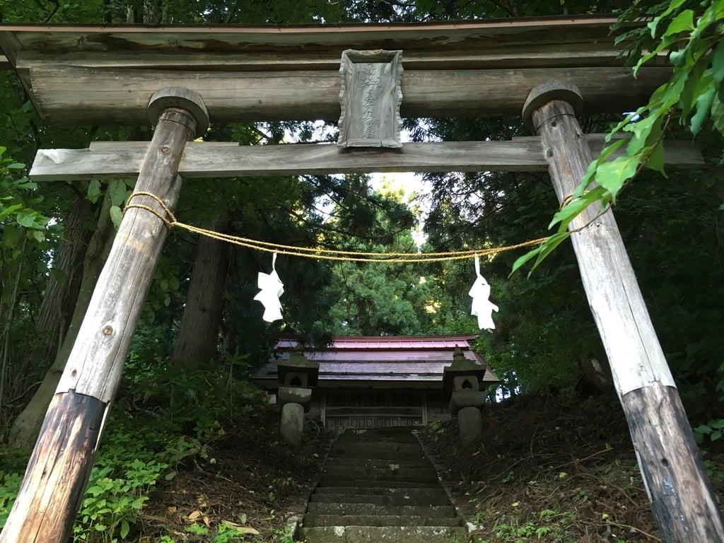 山王神社の鳥居(長野県蓮駅)