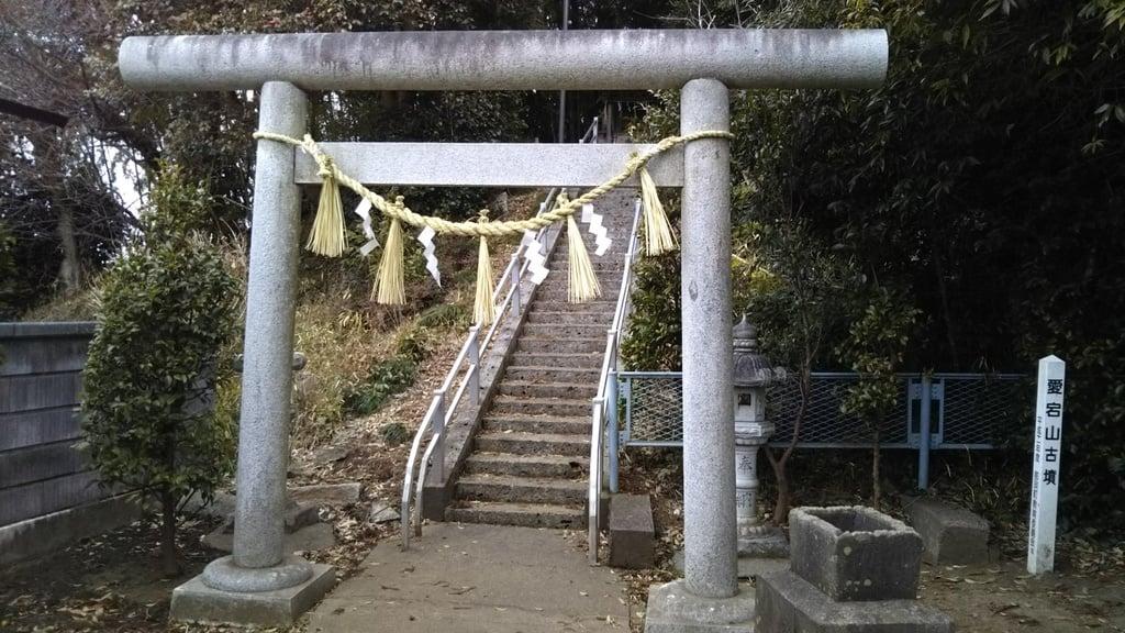 愛宕神社の鳥居(茨城県河合駅)