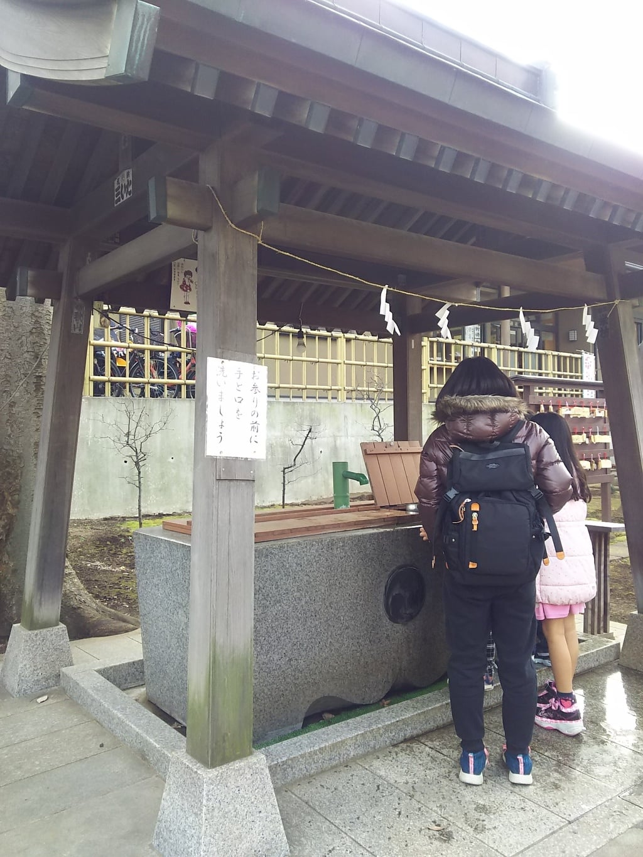 天祖神社の手水舎(東京都西台駅)