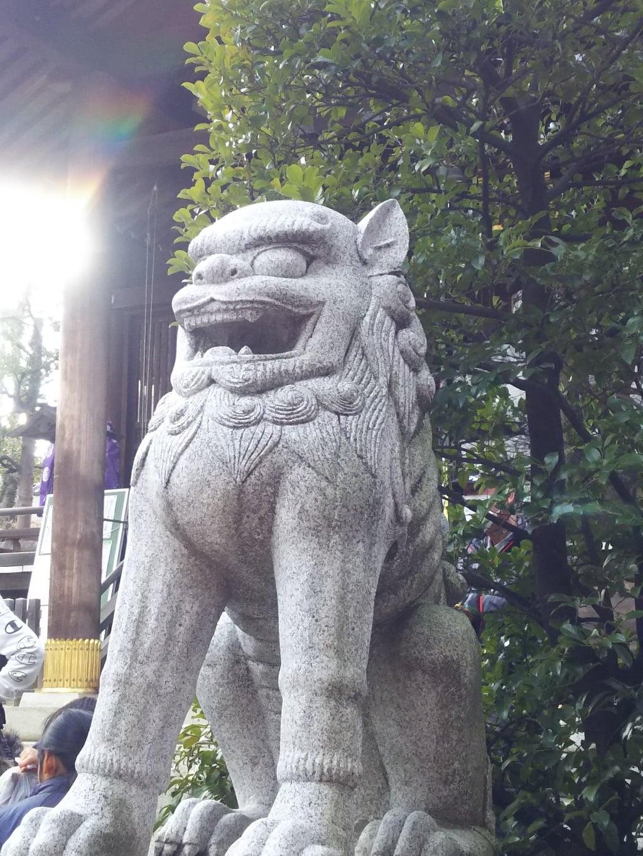 天祖神社の狛犬(東京都西台駅)