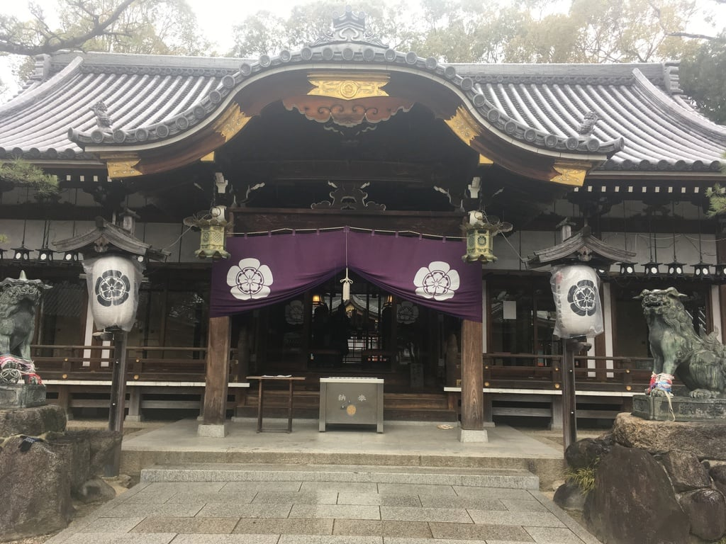 杭全神社の本殿・本堂(大阪府平野(JR)駅)