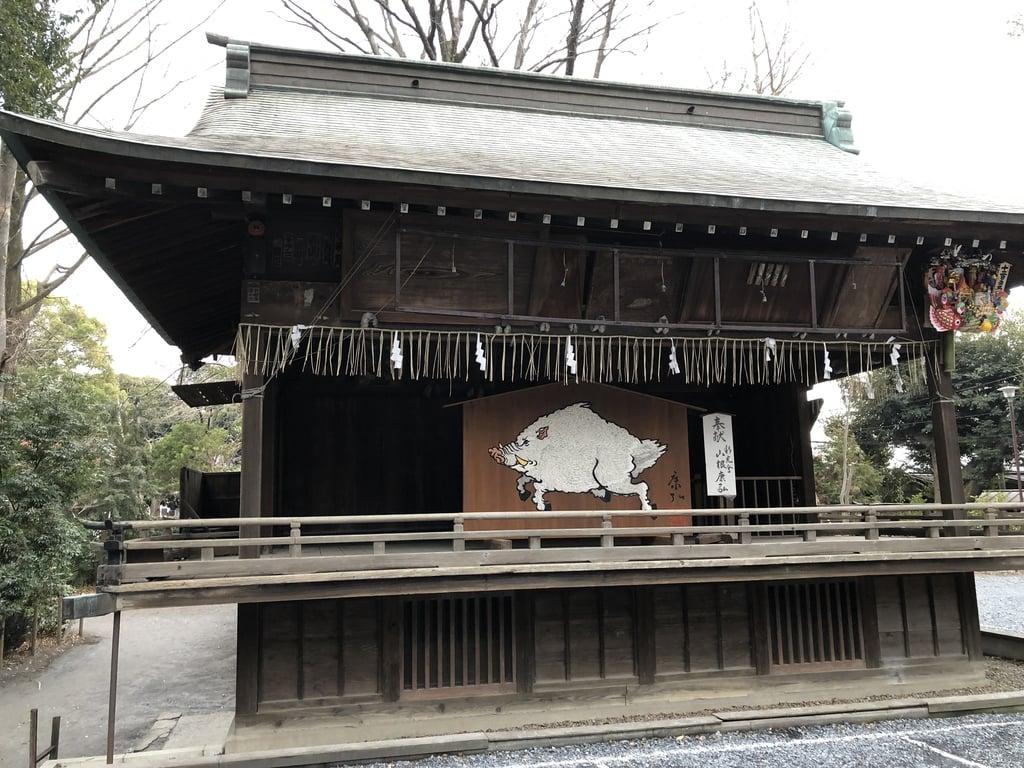 調神社の本殿(埼玉県浦和駅)