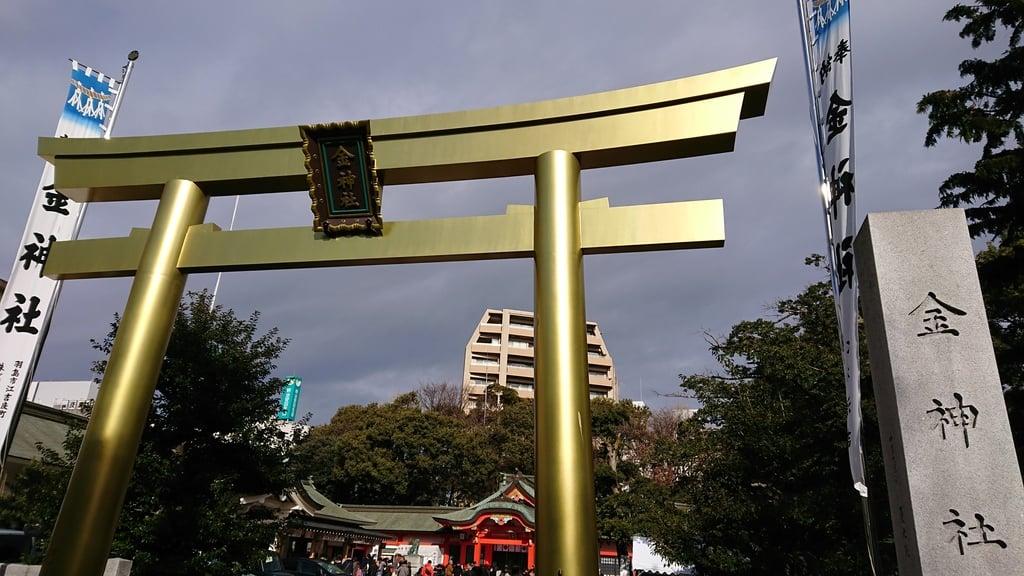 金神社の鳥居(岐阜県名鉄岐阜駅)
