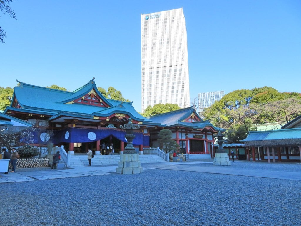 日枝神社の本殿・本堂(東京都溜池山王駅)