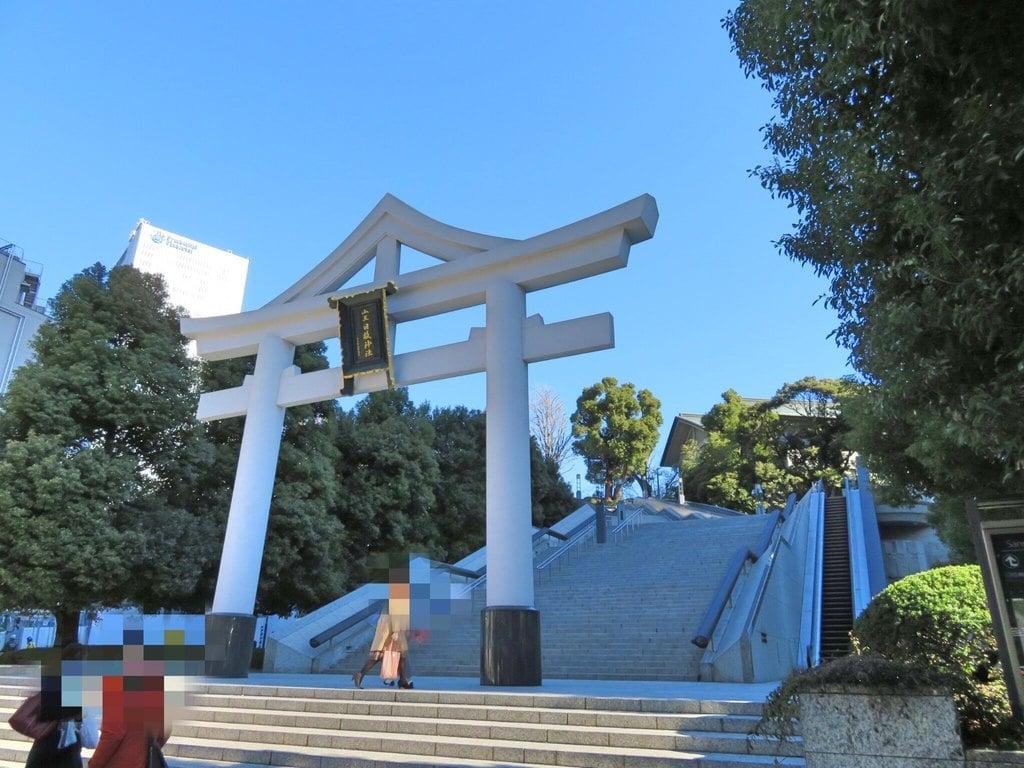 日枝神社の鳥居(東京都溜池山王駅)