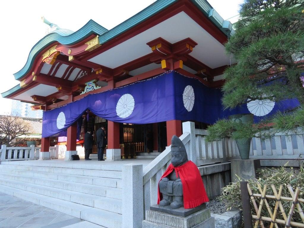 日枝神社の狛犬(東京都溜池山王駅)