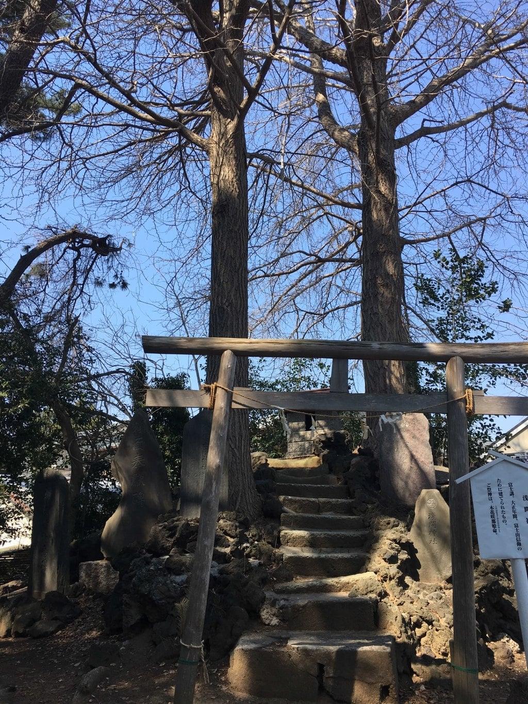神明社の鳥居(千葉県鬼越駅)