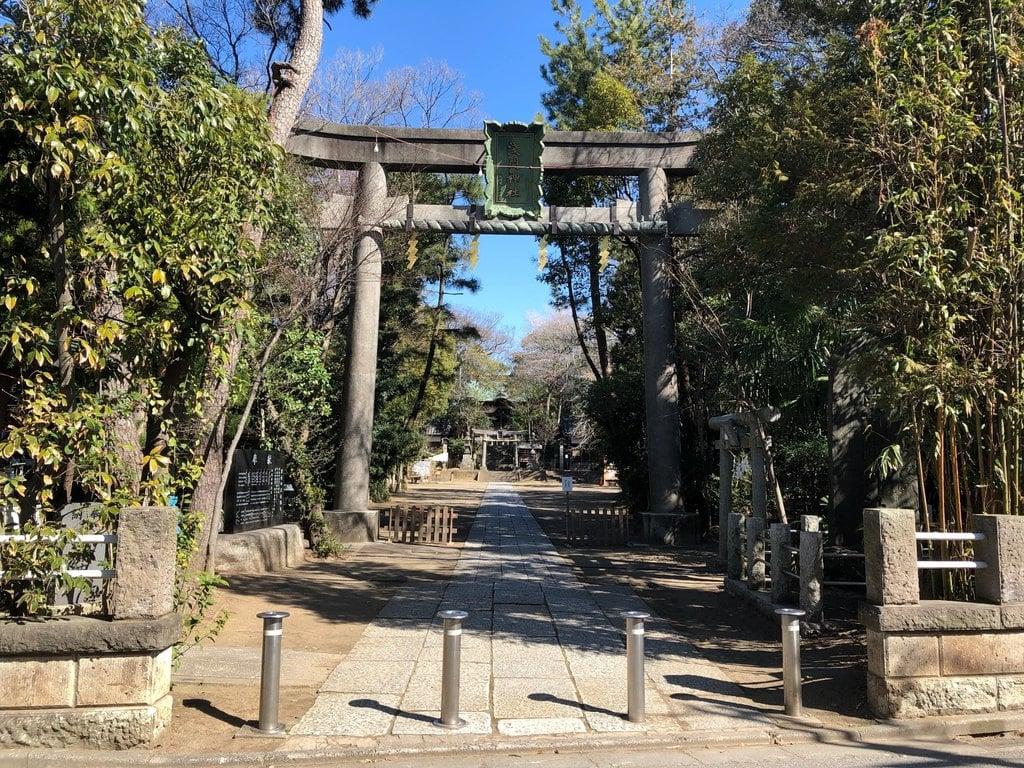 篠崎浅間神社の鳥居(東京都篠崎駅)