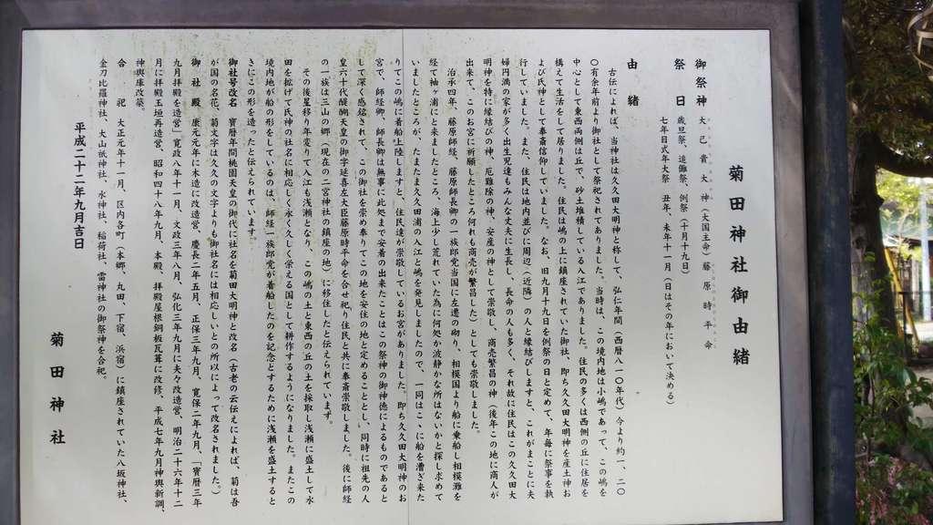 菊田神社の歴史