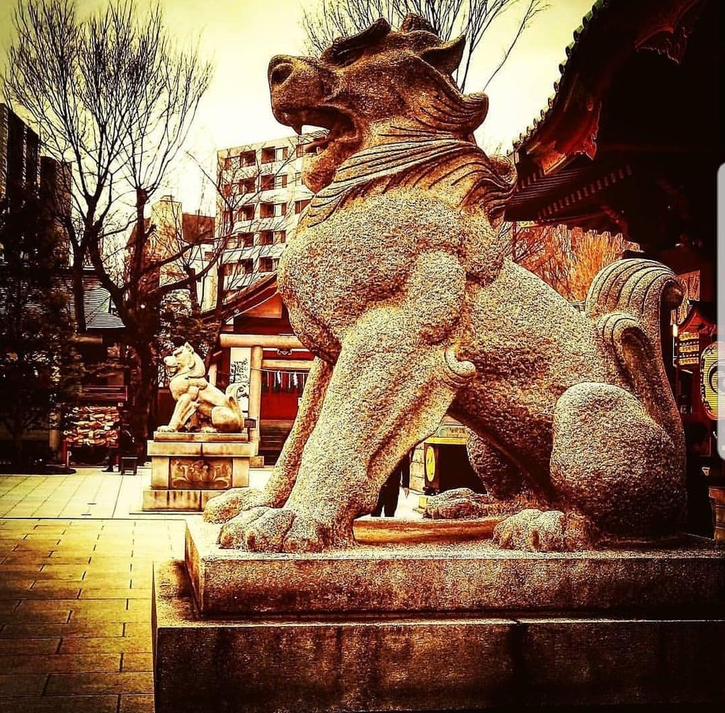 神田神社(神田明神)の狛犬(東京都末広町駅)