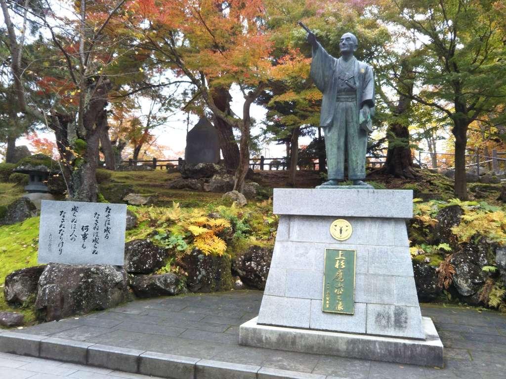 上杉神社の像