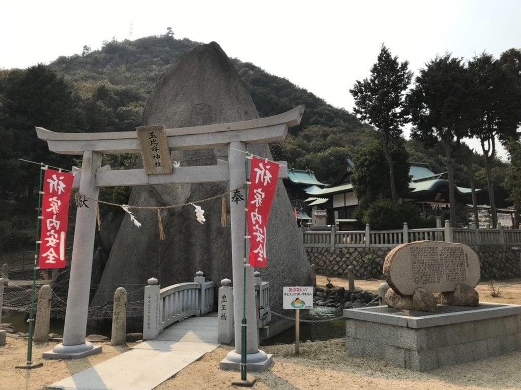 玉比咩神社の鳥居