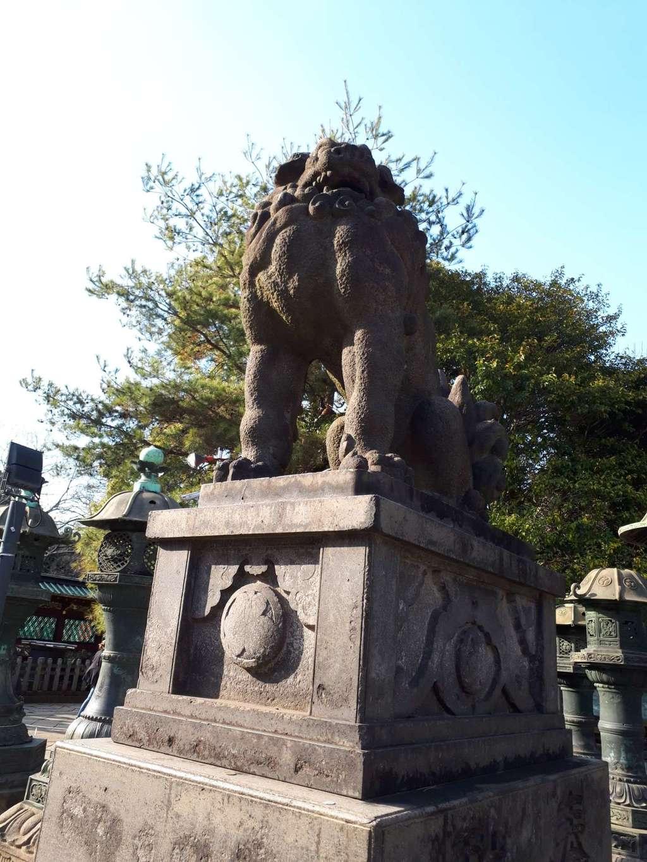 上野東照宮の狛犬(東京都京成上野駅)