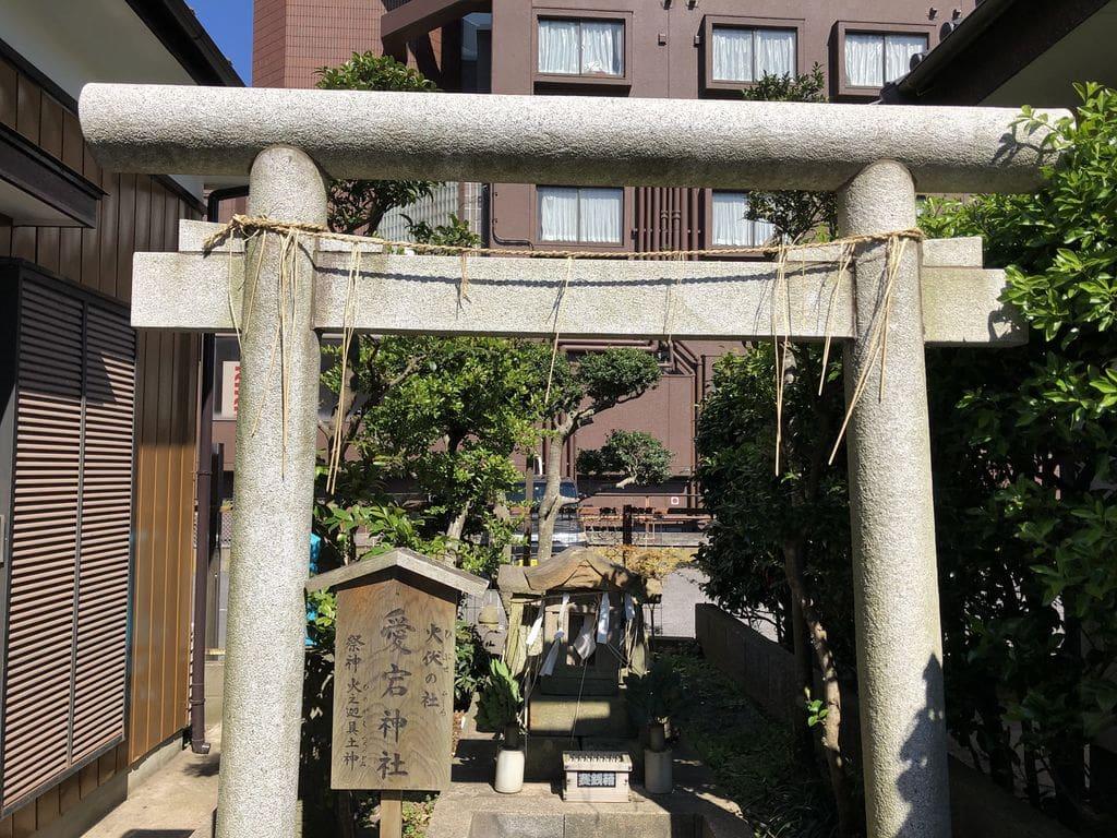 愛宕神社の鳥居(茨城県鹿島神宮駅)
