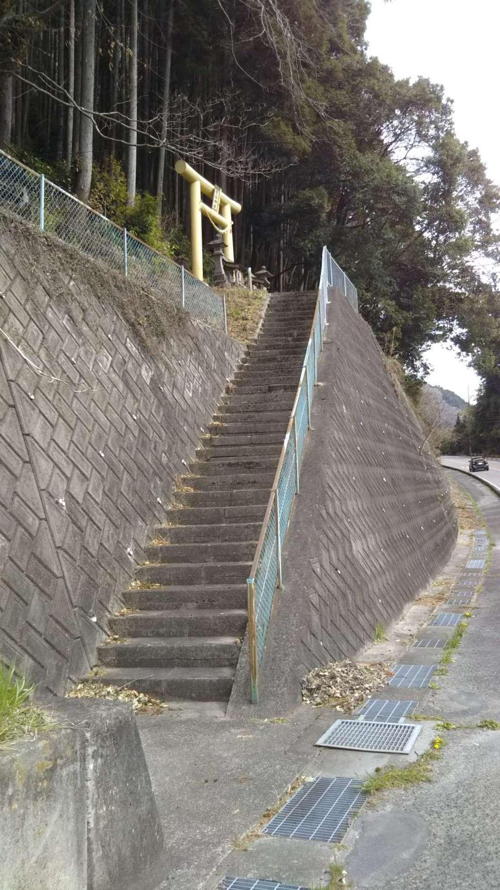 愛宕神社の建物その他(茨城県中舟生駅)