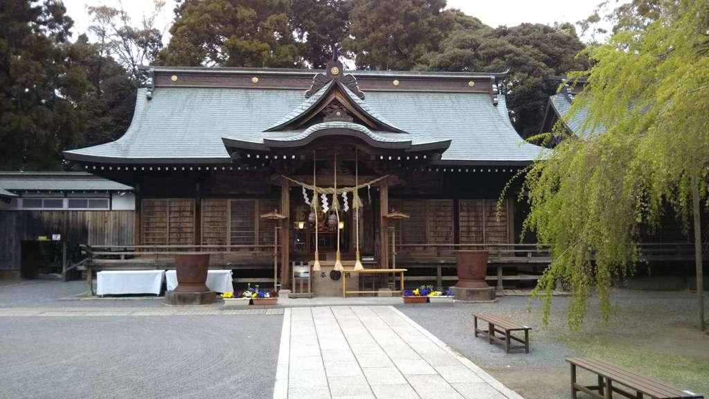 常陸第三宮 吉田神社の本殿・本堂(茨城県水戸駅)