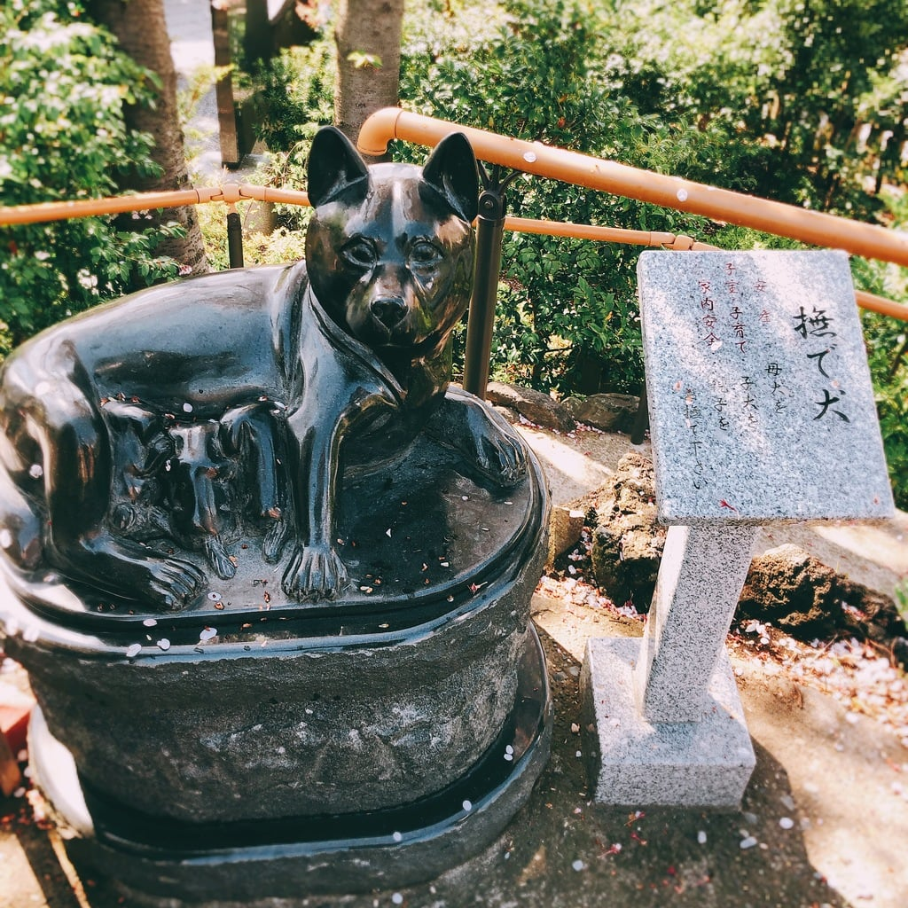 鎮守氷川神社の狛犬
