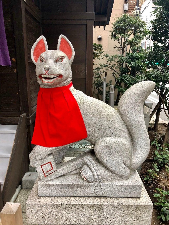 茶の木神社の狛犬