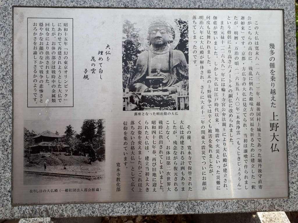 上野大仏の歴史