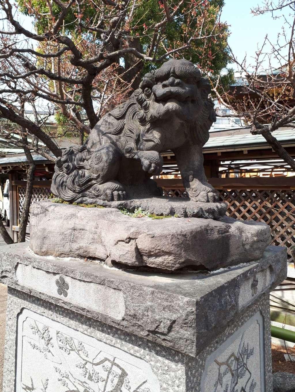 湯島天満宮の狛犬(東京都湯島駅)