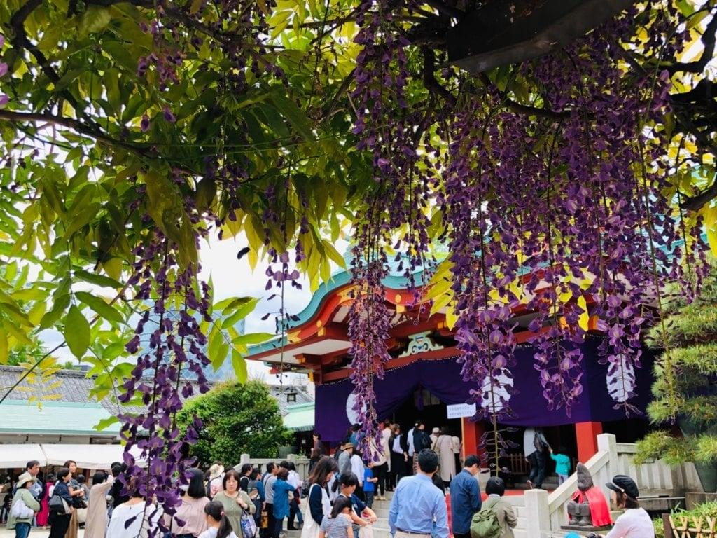 日枝神社の庭園