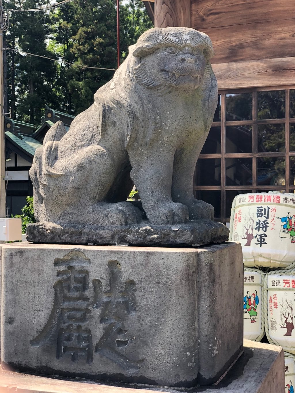 常陸第三宮 吉田神社の狛犬