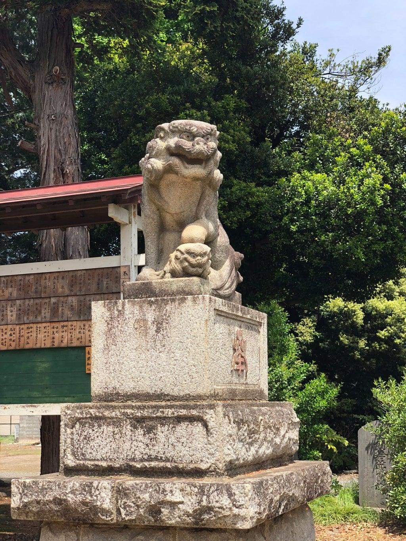 鶴峯八幡宮の狛犬