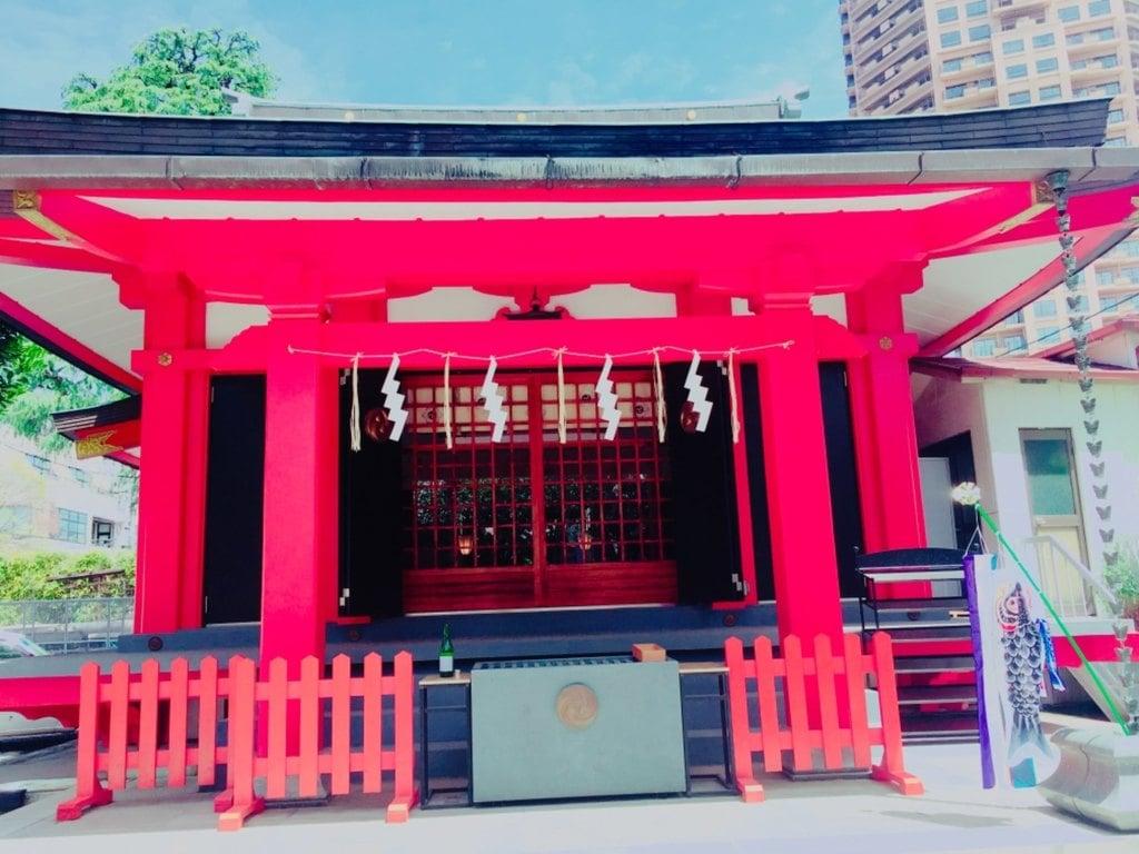 麻布氷川神社の本殿・本堂(東京都麻布十番駅)