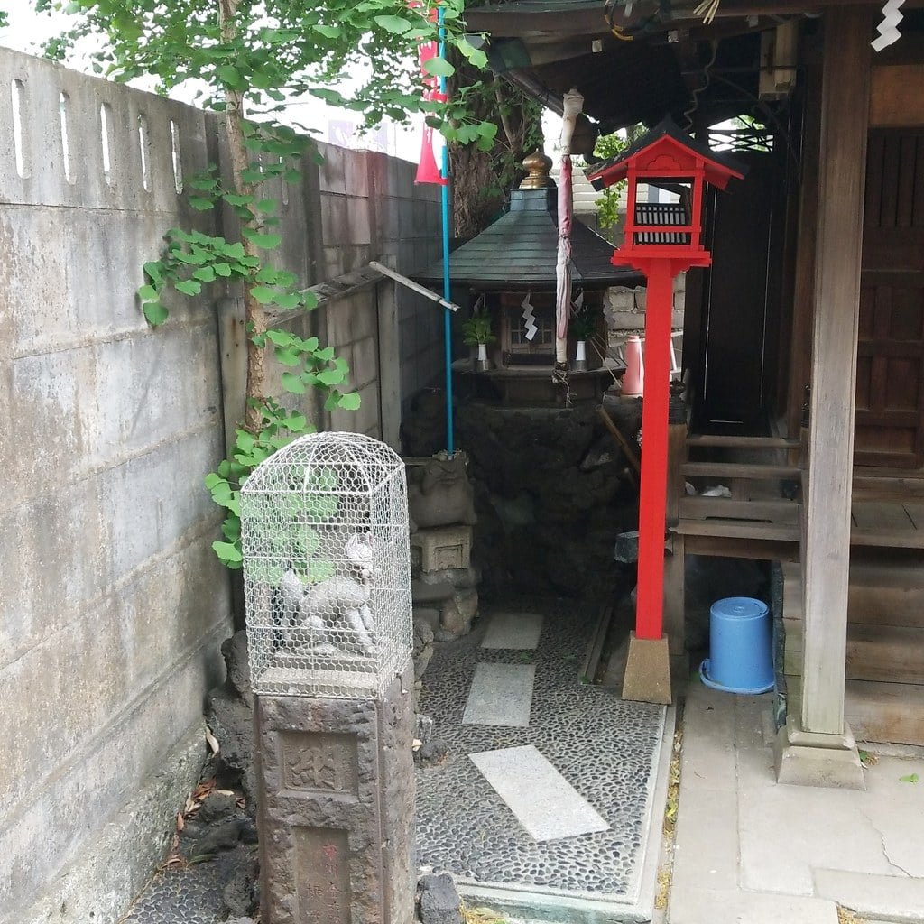 雷電稲荷神社の狛犬