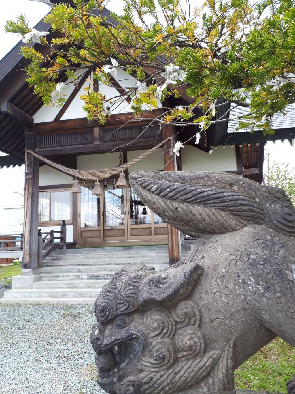 新篠津神社の狛犬