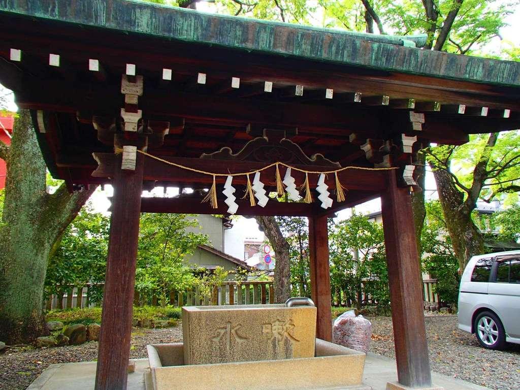 溝旗神社(肇國神社)の手水
