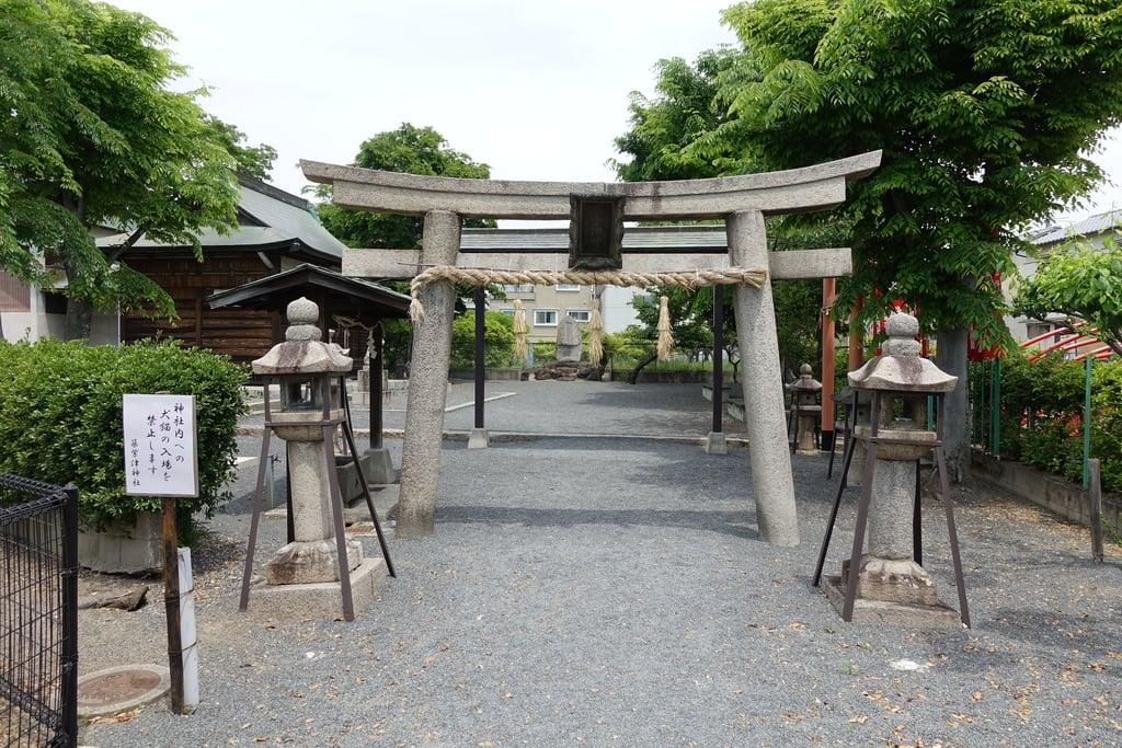 筑紫津神社の鳥居