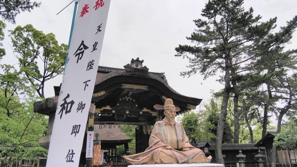 豊国神社の像