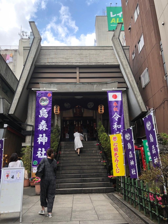 烏森神社の鳥居(東京都新橋駅)