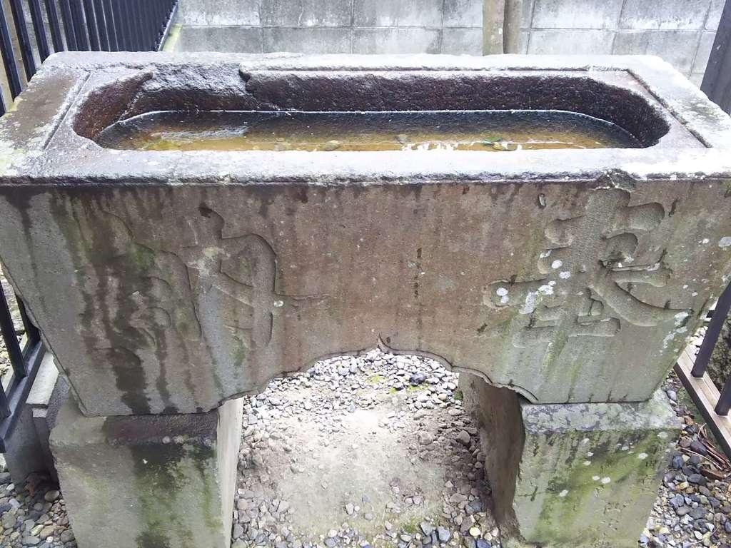 粕壁神明社の手水