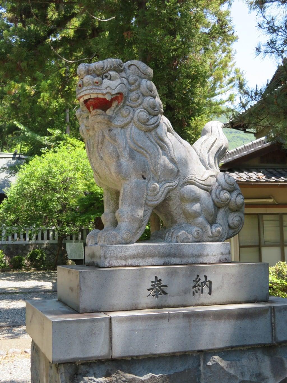 酒折宮の狛犬
