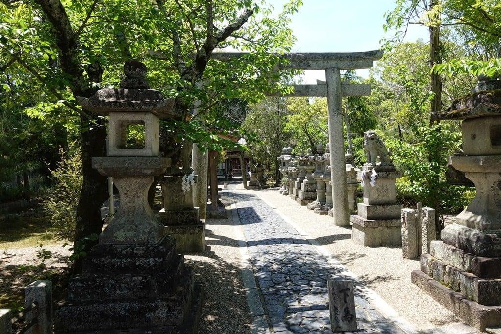奈良豆比古神社の鳥居(奈良県平城山駅)