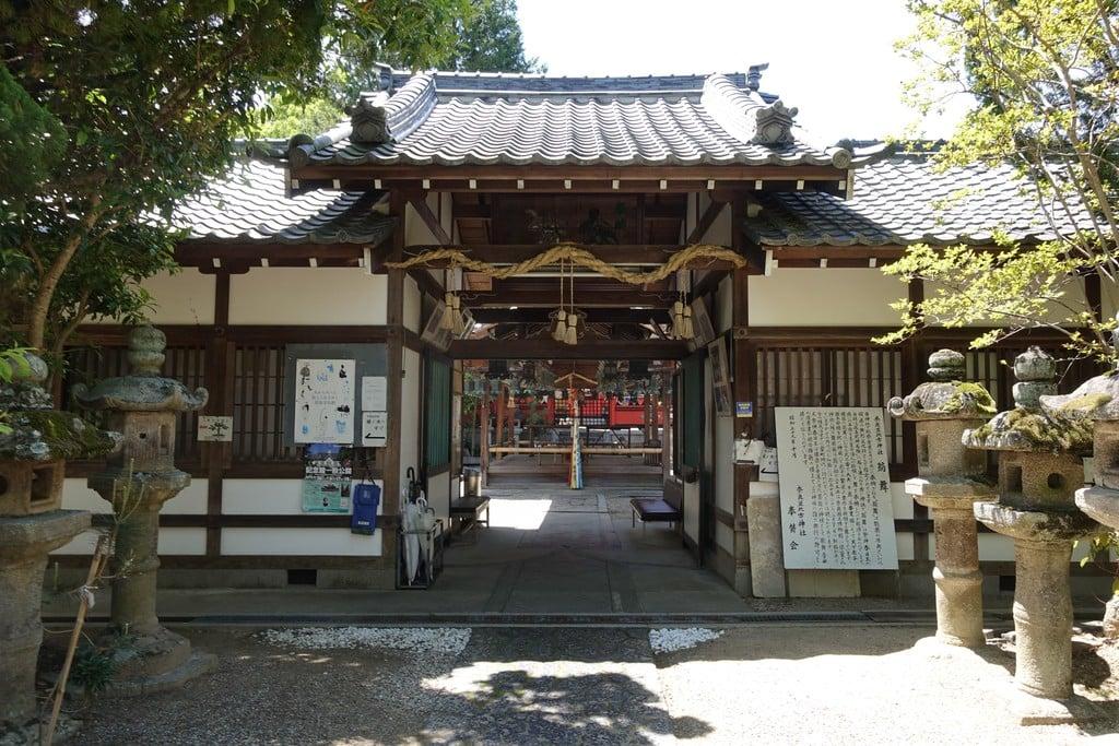 奈良豆比古神社の山門